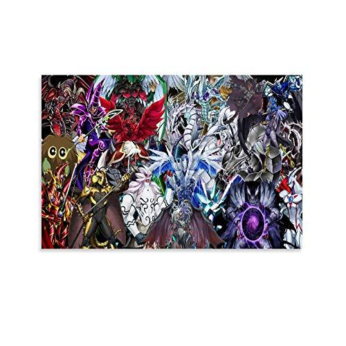 DRAGON VINES Yu Gi Oh Duel Monsters Atem Yugi Muto Millennium Puzzle Poster Wandkunstdruck Poster für Schlafzimmer 20 x 30 cm