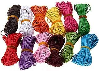 Supvox 12 Colores Cordones Elásticos Cordón de Abalorios Multicolor Artesanía Hecha a Mano Cuerda Elástica para Pulsera Collar Rebordear Accesorios de Bricolaje Manualidades 10 M