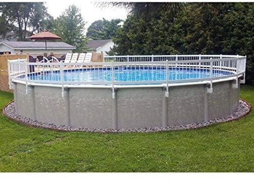 Vinyl Works 24-Inch White Economy Above-Ground Spring new work Pool Limited Special Price Resin Fence