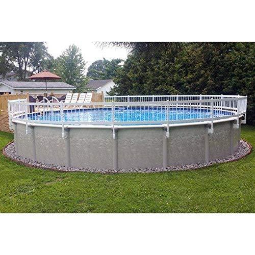 Vinyl Works 24-Inch White Economy Resin Above-Ground Pool Fence Kit