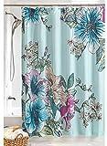Carol Wright Gifts Chelsea Shower Curtain, Color Aqua, Size 72' W x 72' H, Aqua, Size 72' W x 72' H