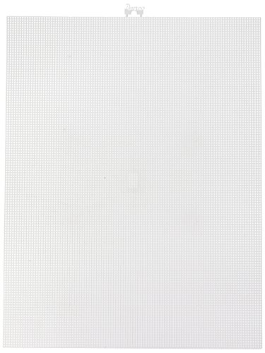 Plastic Canvas 10 Mesh 10-1/2'X13-1/2'-White