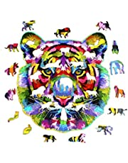 YHIIen PièCes De Puzzle en Bois De Forme Unique,Puzzles de Développement Intellectuel, Meilleur Cadeau pour Adultes et Enfants, pour La Collection de Jeux en Famille