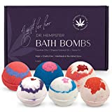 Organic Bath Bomb Gift Set For Women - 6 Pack - Natural Coconut and Hemp Bath Bombs with Essential Oils – Beautiful Gift Box for Girlfriend, Wife, Mother - Handmade in the USA