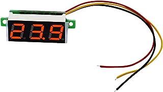 ミニ 0.36インチ DC 0-100 v 3桁ディスプレイ デジタル LED パネル 電圧計 電子テスター 3線式DC 0〜100V