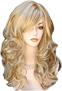 Nishore KW-004 High-temperature Synthetic Fiber Wigs Heat Resistant Long Hairpiece Hair Wig for Women Wavy Curly Hair Full...