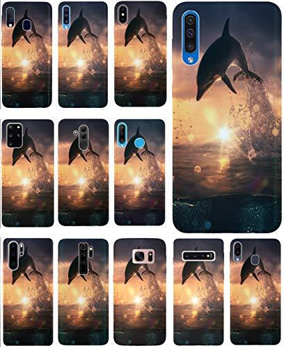 KX-Mobile Hülle für WIKO Fever Handyhülle Design 1006 Delfin Delphin aus flexiblem Silikon SchutzHülle Softcase HandyCover Hülle für WIKO Fever