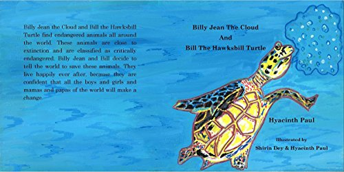 Billy Jean The Cloud And Bill The Hawksbill Turtle: Billy Jean The Cloud And Bill The Hawksbill Turtle Save Endangered Animals (English Edition)