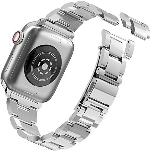 Songsier Cinturini Compatibile con Apple Watch 38mm 42mm 40mm 42mm, Sostituzione Senza Attrezzo Cinturino di Ricambio in Acciaio Inossidabile per Iwatch Serie 6/5/4/3/2/1/se