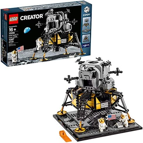 LEGO Creator Expert NASA Apollo 11 Lunar Lander 10266 Building Kit New 2020 1 087 Pieces product image