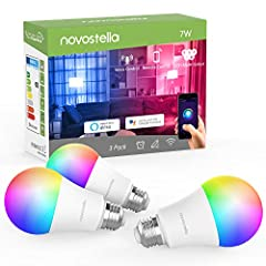 RGBCW Color Changing Bulb: 7W 600LM, RGBCW = RGB + Warm White + Daylight White, tunable white from 2700K-6500K. Choose from 16 million colors and 8 scene modes to instantly change the look and atmosphere of your room Voice Control: Wifi smart light b...