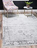 Unique Loom 3134033 Sofia Collection Traditional Vintage Beige Area Rug, 8' 0 x 10' 0 Rectangle, Gray