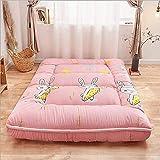 Materasso futon in stile giapponese tradizionale in stile giapponese, materasso tatami spesso, tappetino pieghevole, pad materasso disponibile per quattro...