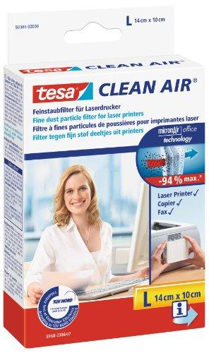 tesa Clean Air - effektiver Feinstaubfilter für Laserdrucker (Größe L)