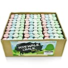 Sidewalk Chalk Party Pack – 30 x Pack of 4 Multi-Color Jumbo Street Chalks – 4 Bright & Cheerful Colors – Nontoxic, Washable Tapered Chalks for Party Favors and Gifts - 1 x 4 Inches