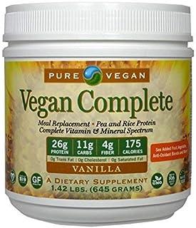 Pure Vegan Nutritional Vegan Meal Replacement Shake Vanilla 1.42 LBS [並行輸入品]
