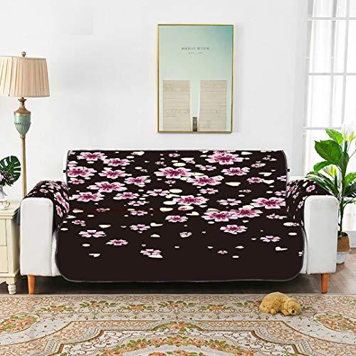 WDDHOME Kirschblüte, isoliert auf schwarz Schöne Esszimmerstuhl Schonbezug Schonbezug Für Ohrensessel Lodge Sofabezug 66