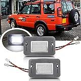 2 piezas para Land Rover Discovery 1/2 1994-2004 para Land-Rover Discovery TD5 LED Placa de matrícula luz trasera etiqueta Lámparas