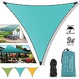 Molbory Toldo Vela de Sombra 4x4x4m, Vela De Sombra Triangular HDPE, Toldo Vela Parasol Protección UV para Patio Exteriores...