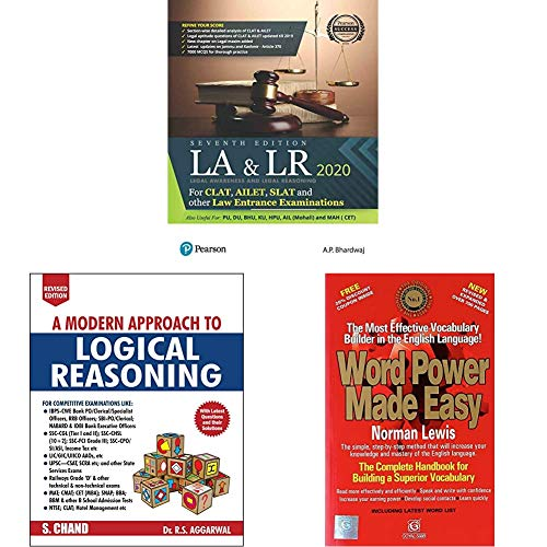 Legal Awareness and Logical Reasoning 2020 | CLAT, AILET, SLAT and Other Law Entrance Examiations | Useful for PU,DU,BHU,KU,HPU,AIL | Seventh Edition ... Edition)+Word Power Made Easy(Set of 3 books)