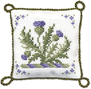 Textile Heritage Pincushion Counted Cross Stitch Kit - Victorian Thistles