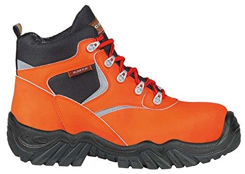 COFRA Warnschutz Sicherheitsschuhe EVIDENT und Luminous S3 HI HRO SRC (43, Warn-Orange)