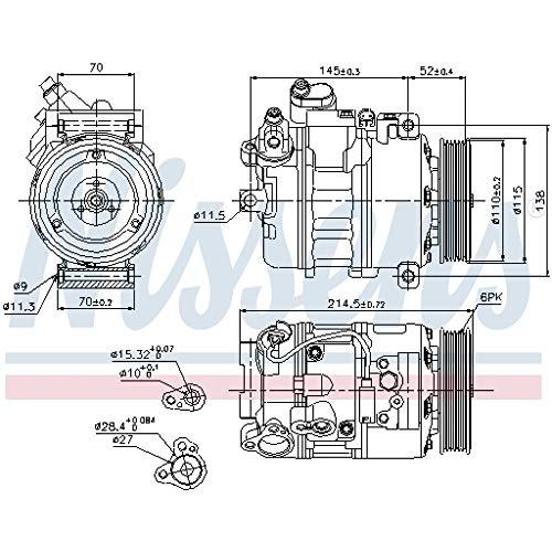 Nissens 89214 - Compressore, Climatizzatore