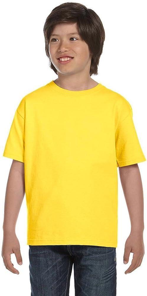 Hanes Boys' TAGLESS ComfortSoft Crewneck T-Shirt_Yellow