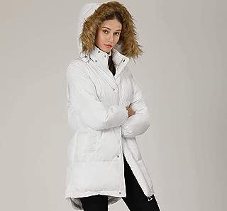 YD-zx Women's Thicken Cotton Padded Parka Coat Winter Warm Cotton Jacket with Fur Collar