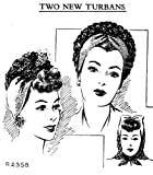 Two Turbans with Wool Jersey & Crochet Hat Pattern (English Edition)