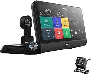 سيارة كاميرا القيادة مسجل، 8 بوصة الروبوت 5.1 4G wifi بلوتوث adas عدسة مزدوجة dvr كاميرا GPS الملاح، سيارة طوي مركبة مسجل
