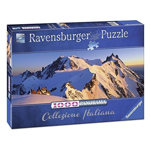 Ravensburger Puzzle, Puzzle 1000 Pezzi, Monte Bianco, Formato Panorama, Puzzle per Adulti, Collezione Italiana, Puzzle Ravensburger - Stampa di Alta Qualità