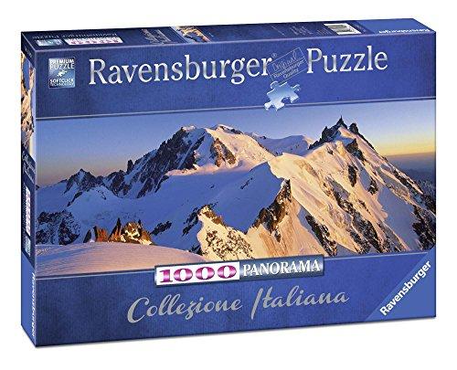 Ravensburger, Puzzle 1000 Pezzi, Collezione Italia, Italian Classic, Puzzle per adulti, Italy, Puzzle Italia, Monte Bianco, Montagna, Formato Panorama