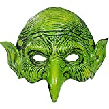 Witch Mask Scary Green Goblin Masks for Halloween Carnival Party Costume