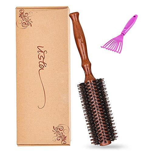 Vista Haarbürste Wildschweinborste 1 Pack Natürlichen Rund Antistatisch Bürste Haare MEHRWEG (Ruled)