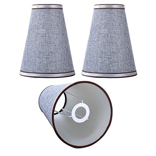 Lampenschirm DULEE 3 Pack Stoff Candle Chandelier Lampenschirm E14 Kronleuchter Wandlampe Lampenschirme