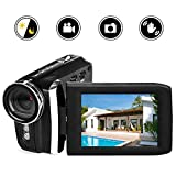 Vmotal Video Camera 1080P Camcorder Vlogging Camera for YouTube, Digital Camera Recorder 270 Degree Rotation Flip Screen with IR Night Vision