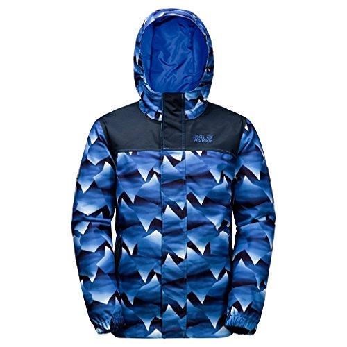 JACK WOLFSKIN Kinder Jacke B KAJAK FALLS PRINTED JKT, night blue all over, 164, 1606841-7523164