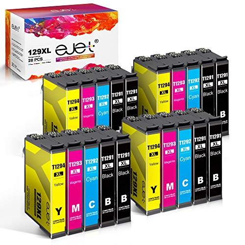 ejet Kompatible Ersatz für Epson T1295-T1291 T1292 T1293 T1294 Druckerpatronen für Epson Workforce WF-3520 WF-3540 WF-7525 WF-7515 Stylus SX235W SX425W SX445W SX535WD Stylus Office BX630FW, 20er Pack