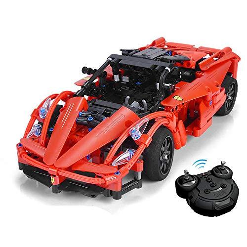 Modbrix Technik 2,4 Ghz Bausteine Auto, Ferngesteuertes Auto, Italienischer Super Sportwagen 380 Technik Teile