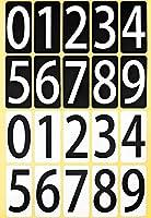 数字 シール 白黒セット ユポ 防水 33M091 【大】 大きい ナンバー ラベル 番号 ステッカー PP加工 耐候性 屋外 【33×66mm/片】0~9の10種各1片×白黒各1シート 33M091