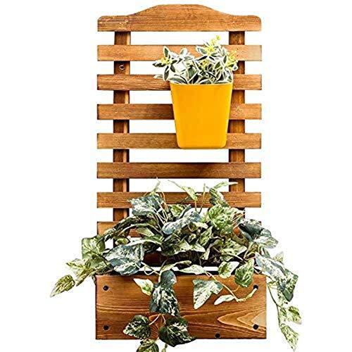 LXDZXY Soportes para Plantas, Jardinera Rectangular de Madera para Jardín de Pared con Celosía para Enredaderas, Jardín, Escalada, Eta, Eta, Jardín, Patio, Madera, Enrejado, Panel - L: 30Cmw: 16Cmh: