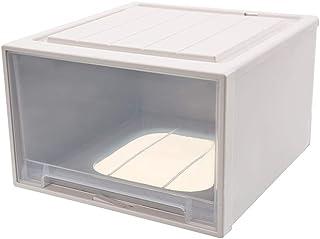 ANCAIBAN Boîte de Rangement pour Garde Robe empilable Transparent Type de tiroir Vêtements Organisateur Chambre Bureau Sal...