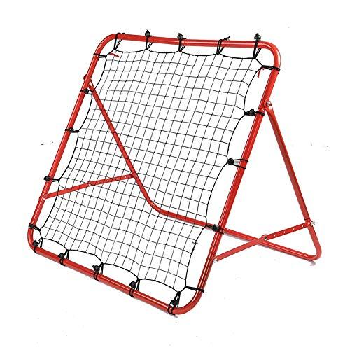 Shopps Fußballtrainingsnetz, tragbar und langlebig, einstellbar, doppelseitig, federbelastet, Fußball-Rebounder, geeignet für Outdoor-Sportarten im Kindergarten