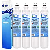 Tier1 Refrigerator Water Filter Replacement for GE RPWF & WaterSentinel WSG-4, PYE23KSD, GNE26GSD, GFE29HSD - with Activated Carbon Media to Reduce Chlorine Taste and Odor - 4 Pack