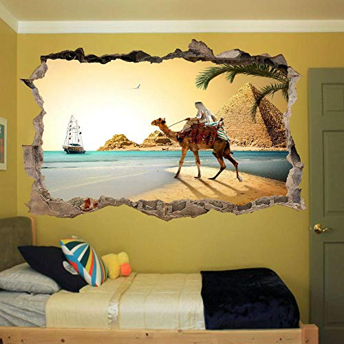 Wall Sticker Beach Camel Wall Sticker 3D Art Mural Home Store Decoration