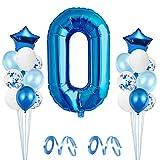 Globo de Cumpleaños 0 año, Globo 0 Año, 0 Cumpleaños Niño, Globo Numero 0 Gigantes, Globo Cumpleaños 0 Año, Number Balloons, Set Globos Decoracion Bautizo Comunión Fiesta Cumpleaños Party
