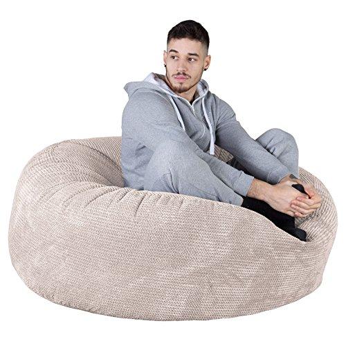 Lounge Pug®, 'Mammoth' Sofa Sitzsack XXL, Riesen Sessle, Pom-Pom Creme - 3