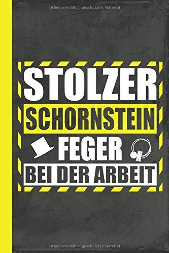 Stolzer Schornsteinfeger bei der Arbeit: Notizbuch Kladde