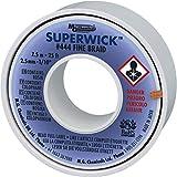 """MG Chemicals 444 Trenza para desoldar Super Wick con fundente RMA, 25 'de largo x 0.1""""de ancho"""